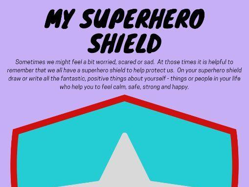 Superhero Shield Worksheet