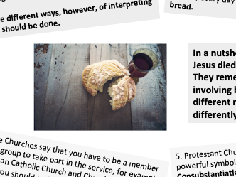 Differences in Breaking Bread hand out