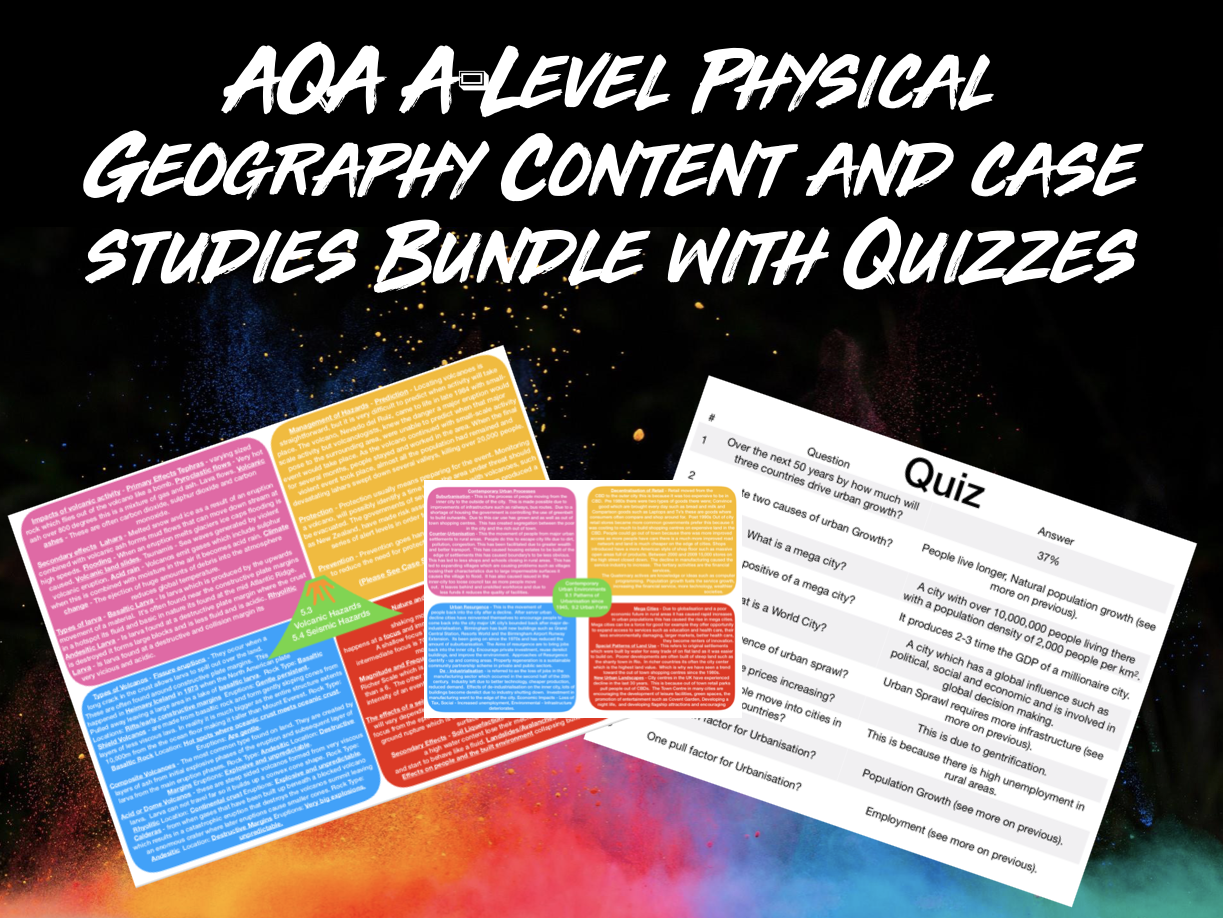 ALL The ULTIMATE AQA A-Level PHYSICAL Geography Topics Content With Case Studies and Quizzes
