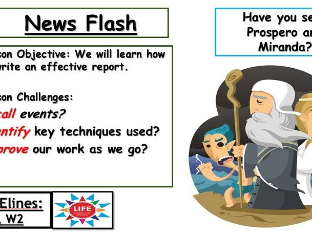 The Tempest News Report on Miranda and Prospero Missing