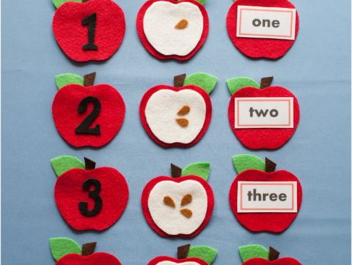 Apple Seed Counting Felt Board Pattern PDF