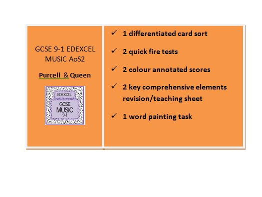 GCSE 9-1 EDEXCEL MUSIC Area of Study 2 Purcell & Queen