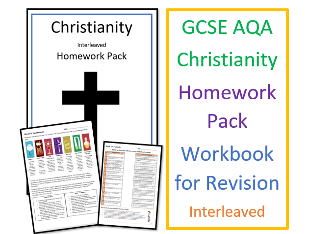 GCSE RS Study of Christianity Homework Pack - Revision Resource