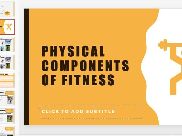 Components of Fitness ppt - BTEC Sport Level 2