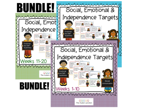Social, Emotional and Independence targets BUNDLE weeks 1-30