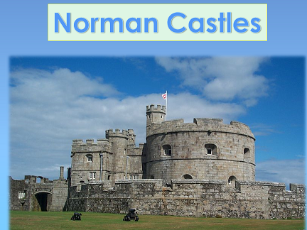 KS1/Y3 Powerpoint lesson (s) of 37 slides on the topic  'Norman castles'.
