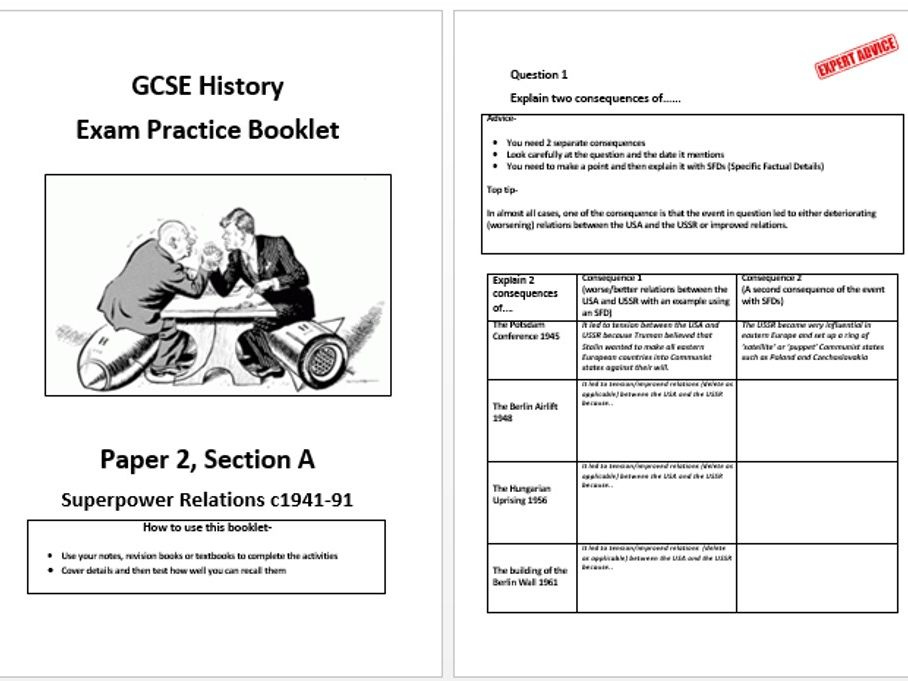 Superpower Relations 1941-1991 Exam Practice Booklet