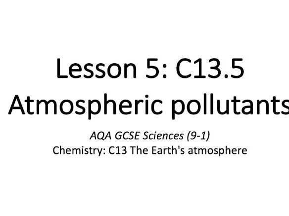 C13.5 Atmospheric pollutants