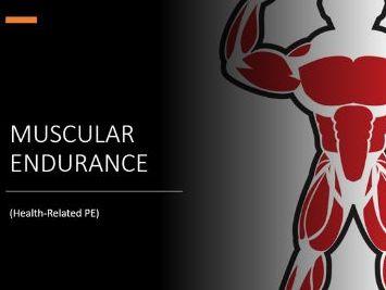 Online Virtual Practical Muscular Endurance PE PPT Lesson KS2 KS3 Health Related Physical Education