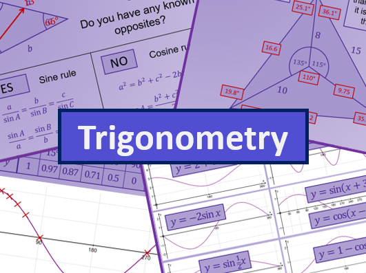 Trigonometry - A level AS Maths Mathematics
