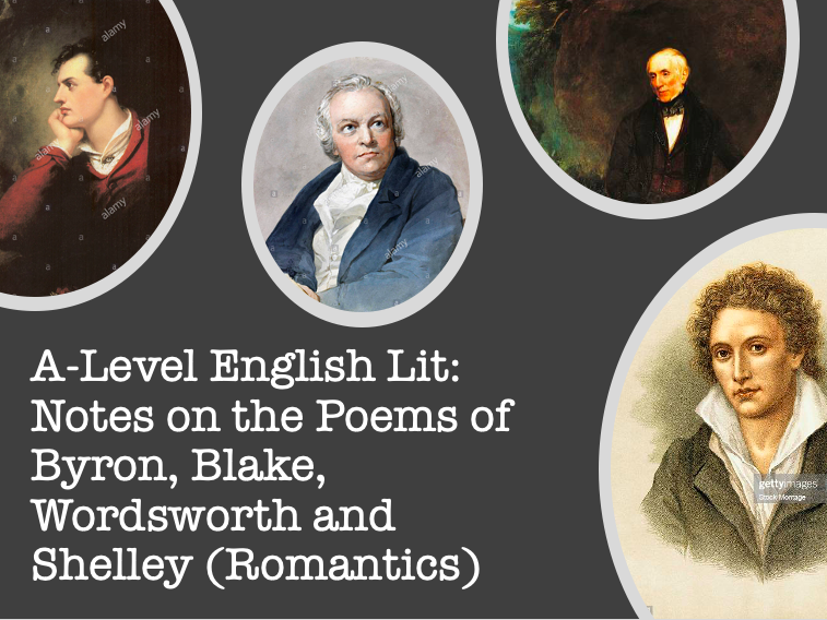 Wordsworth, Shelley, Byron and Blake: A-Level English Lit Romantic Poetry Notes