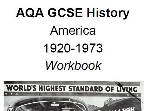 AQA History GCSE Workbook- America 1920-1973
