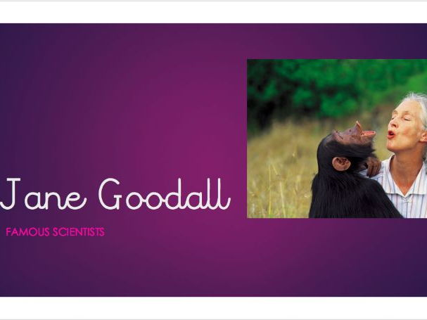 Jane Goodall Science Plan Powerpoint