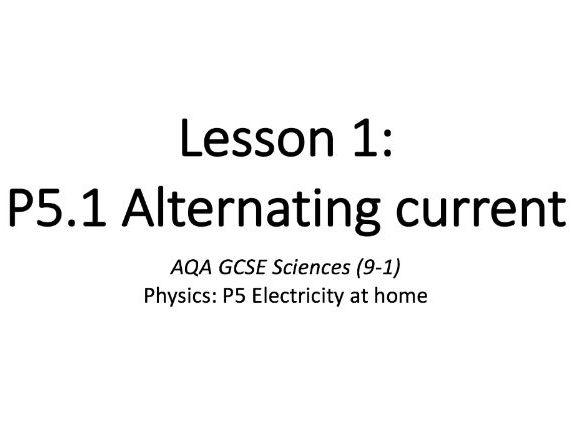 P5.1 Alternating current