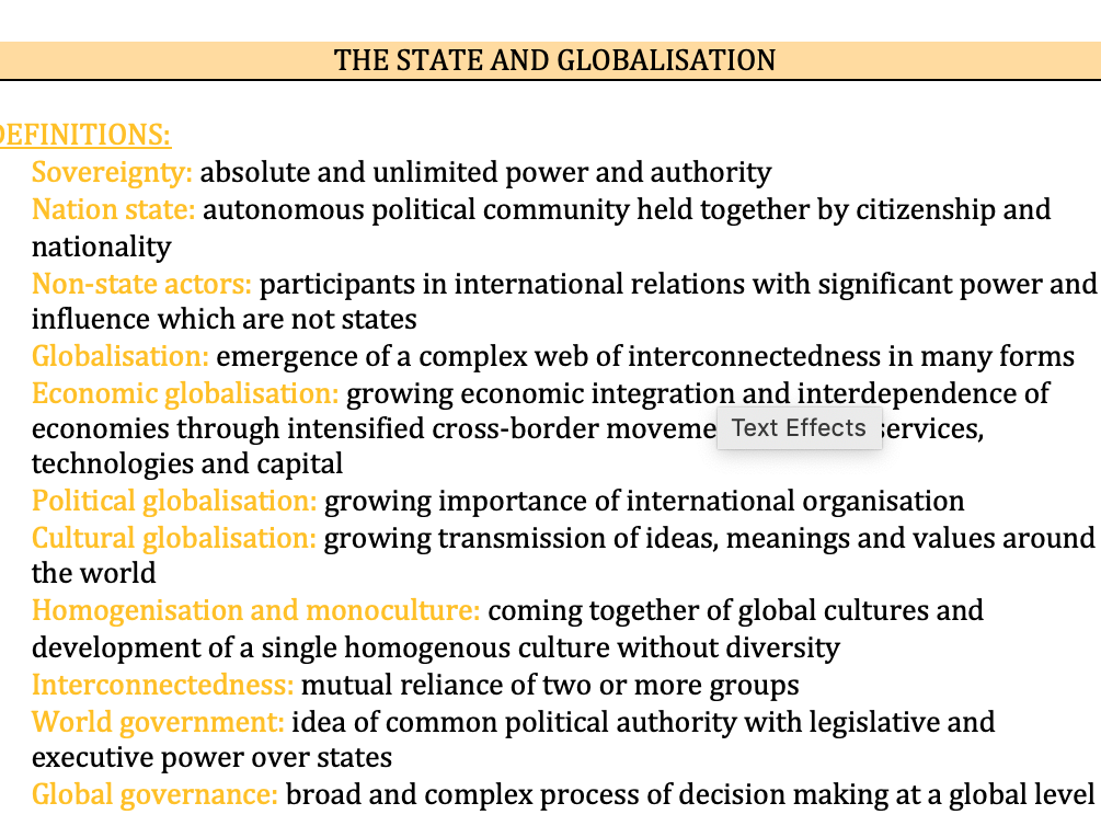 Global Politics - Edexcel Politics A-Level 9PL0