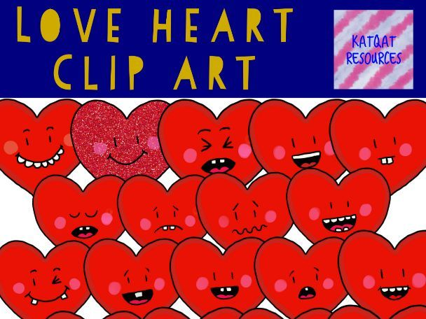 Love Heart Clip Art Valentines Day