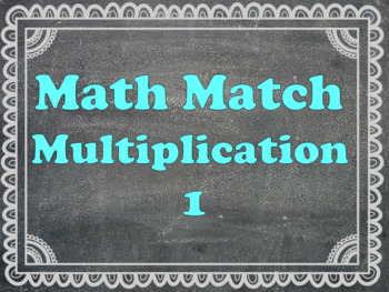Maths Matching Multiplication 2-8 times table