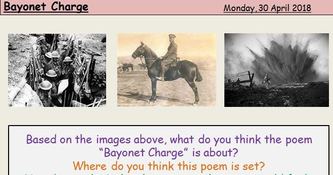 GCSE Poetry Analysis: Bayonet Charge