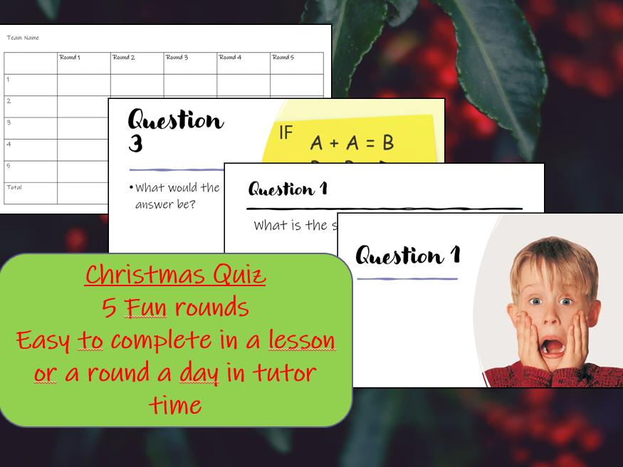 Christmas Quiz/ Fun end-of-term activity