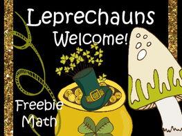St. Patrick's Day Freebie - Math