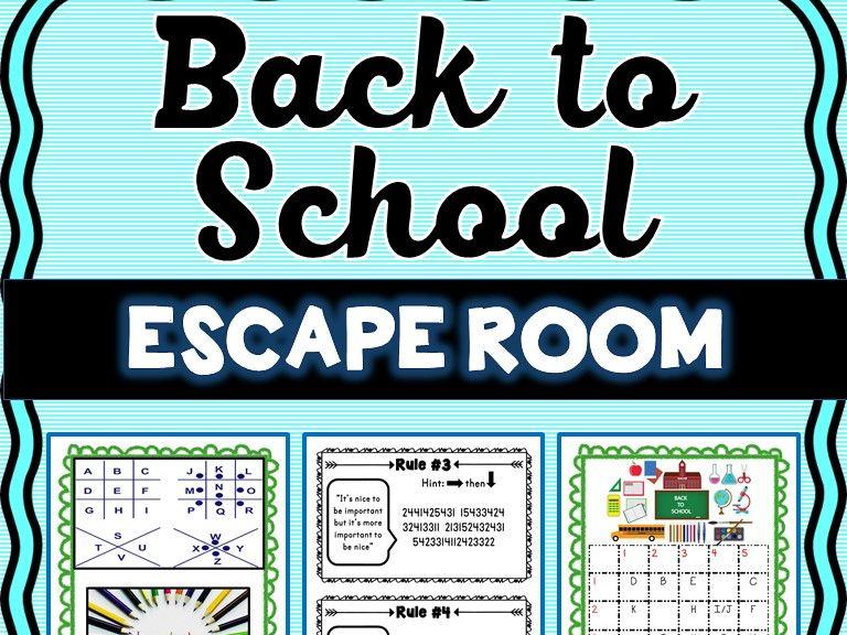 Back to School Escape Room - Classroom Rules - No Prep!