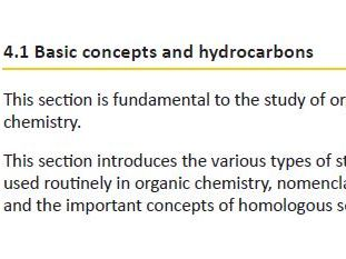 OCR A level chemistry Module 4 part one