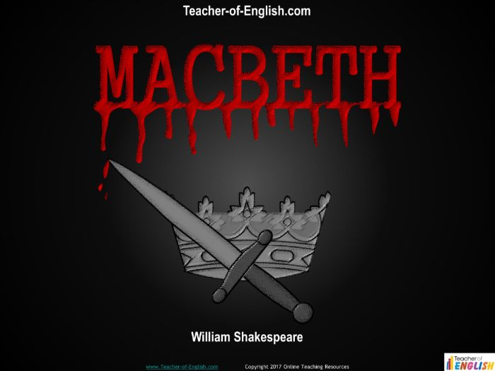 Macbeth Unit of Work for 9-1 GCSE (159 slide PowerPoint, 22 lesson plans and 32 worksheets)