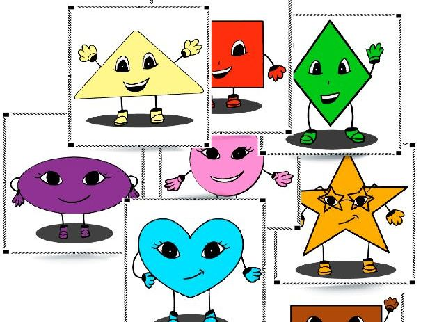 Shapes: flashcards, story and worksheets
