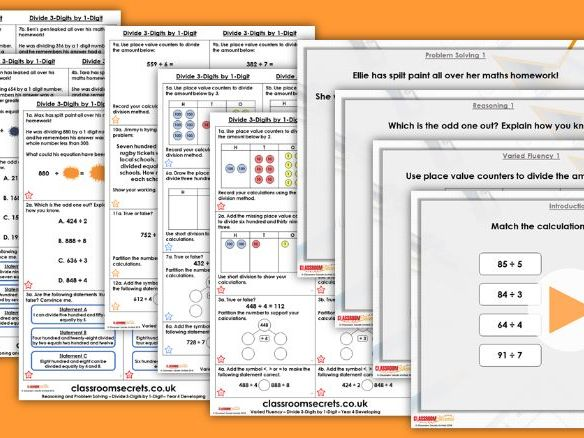 Year 4 Multiply 3-Digits by 1-Digit Spring Block 1 Step 10 Lesson Pack