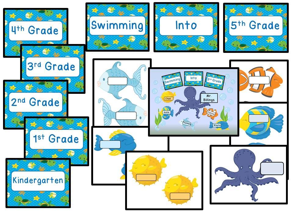 Back to School Bulletin Board - Ocean Theme