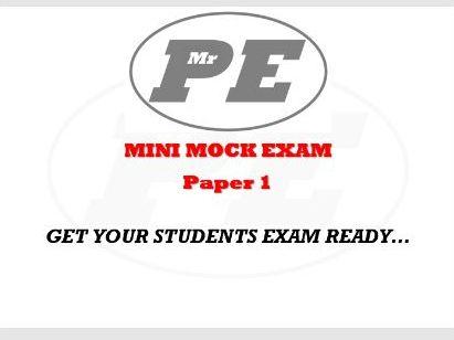 1/2 SIZE EXAM - Paper 1