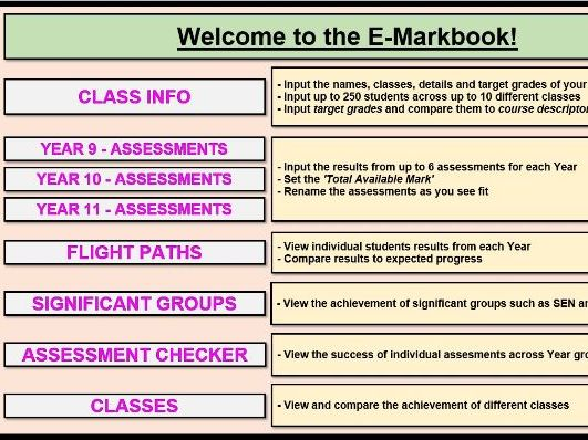 Interactive and Digital Mark Book - replace paper mark books at the back of planners