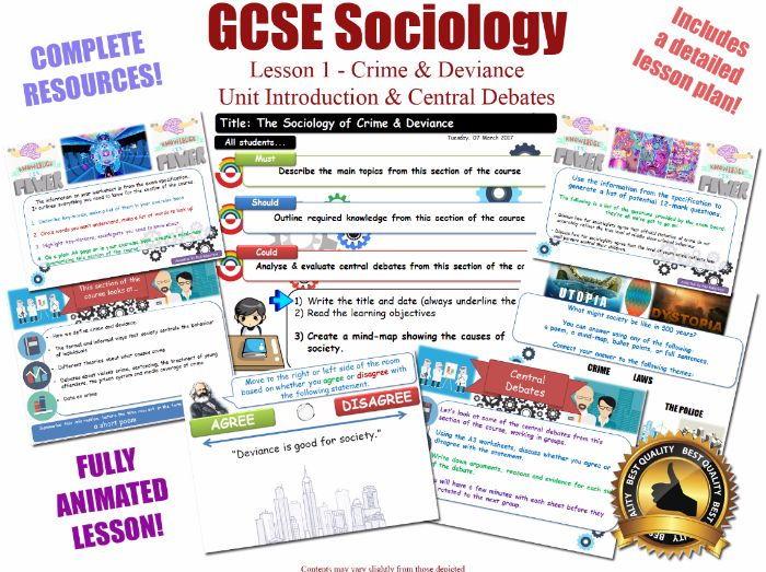Introduction & Central Debates  - Crime & Deviance [AQA GCSE Sociology - 8192] New Spec - L1/20