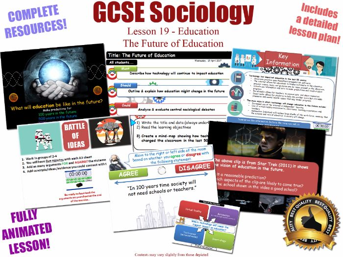 The Future of Education - Sociology of Education L19/20 [ WJEC EDUQAS GCSE Sociology ]