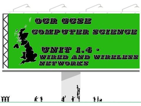 OCR GCSE Computer Science Unit 1.4 Wired and wireless networks (Concept map)
