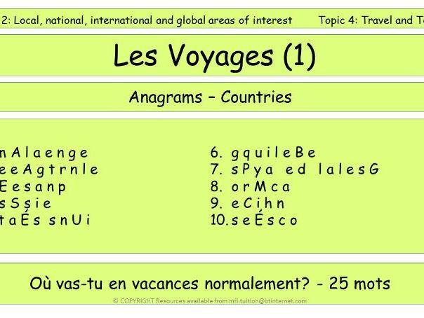 GCSE Vocabulary and Sentence Level Tasks THEME 2 TOPICS 1 - 4