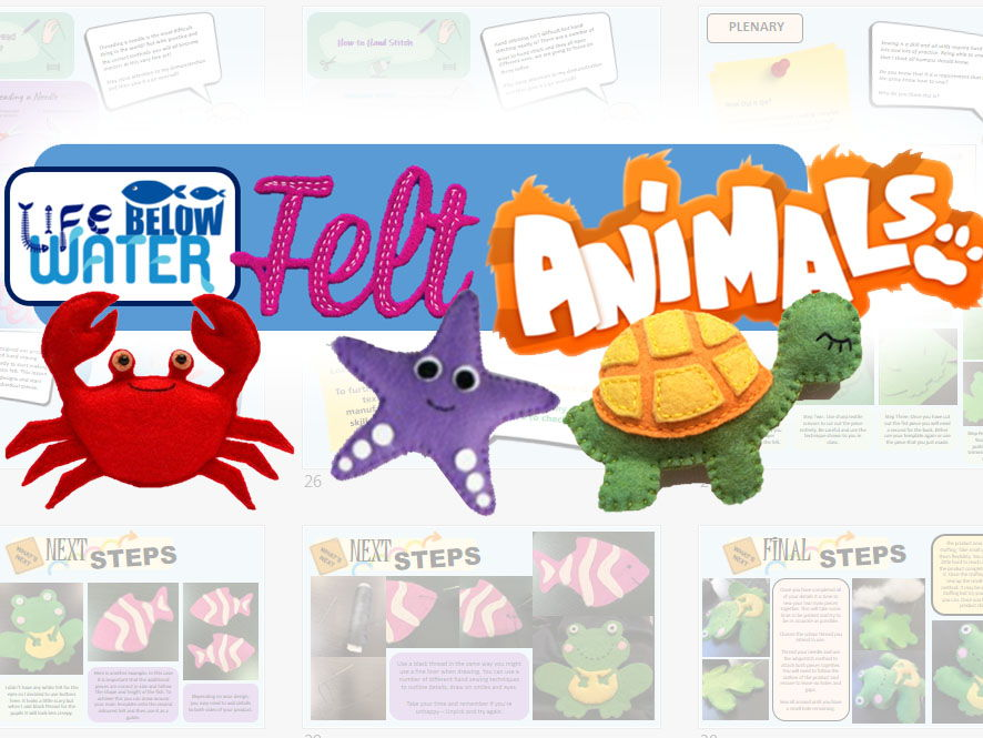 Global Goals - Life Below Water Textiles Project - Felt Animals