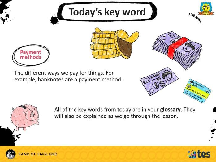 Lesson 3 Money and me - What's new with money? (English curriculum)