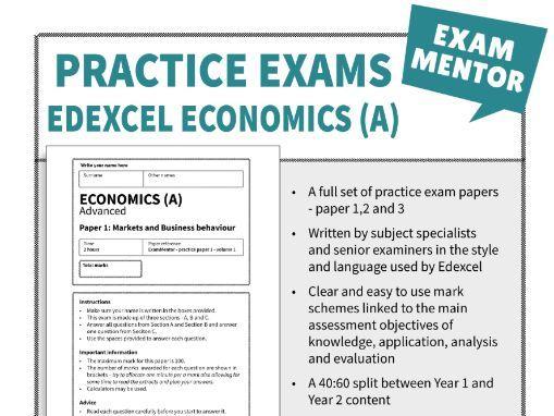 Edexcel Economics (A) - Practice exams - Year 2 ( A level)