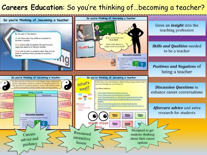 **Careers Education**: So you're thinking of…becoming a teacher?