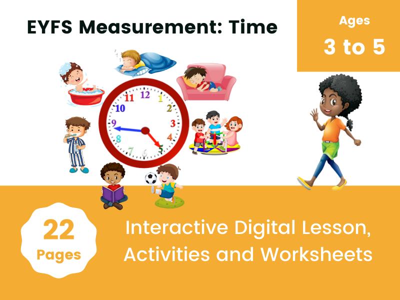EYFS Measurement: Time Digital Activites