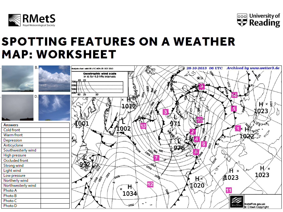 Spotting Features on a Weather Map