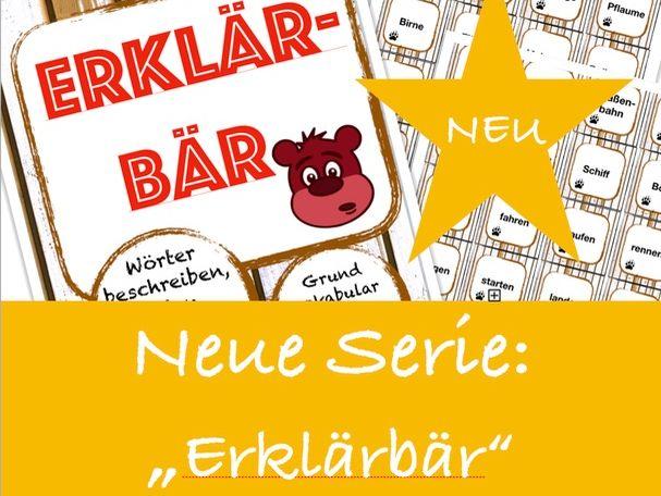 Erklärbär #2: Verkehrsmittel, Wortschatz Deutsch / German vocabulary game / Spiel GCSE