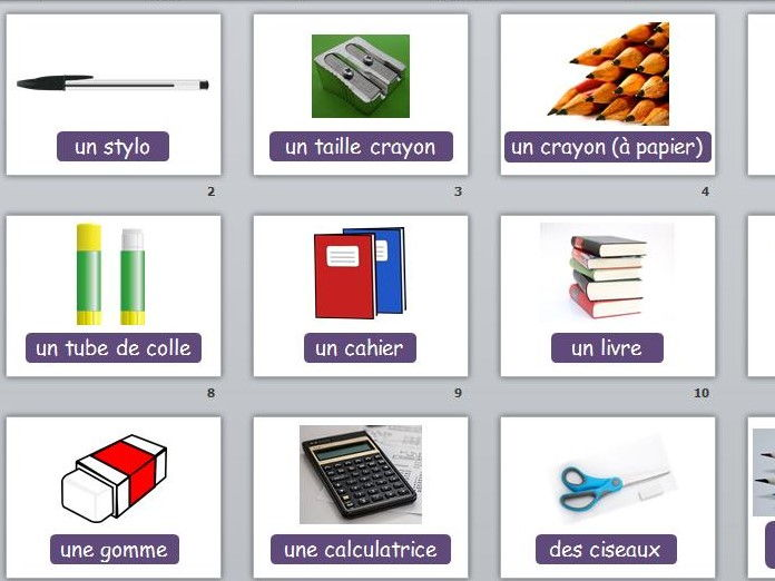 French Lesson School Equipment
