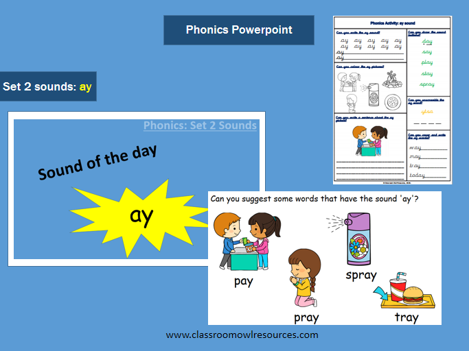 Phonics Powerpoint - 'ay' sound