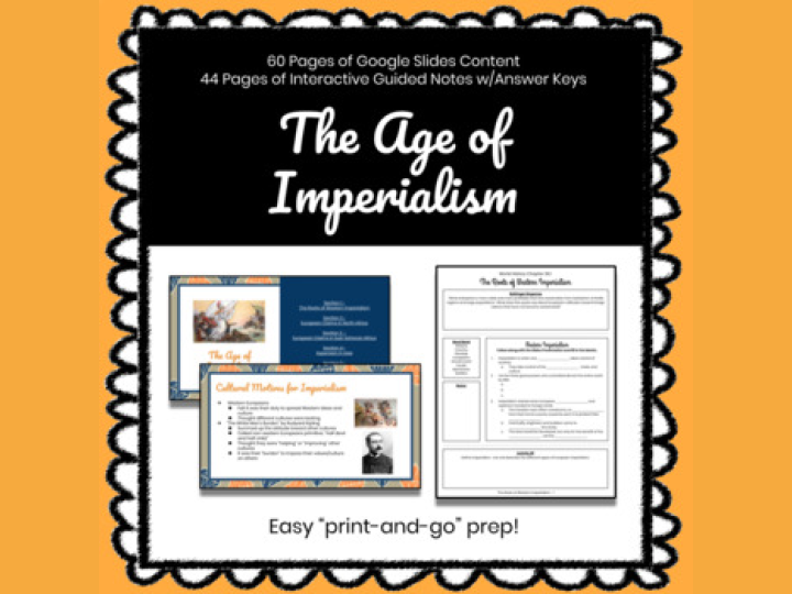The Age of Imperialism Customizable Slides & Guided Notes
