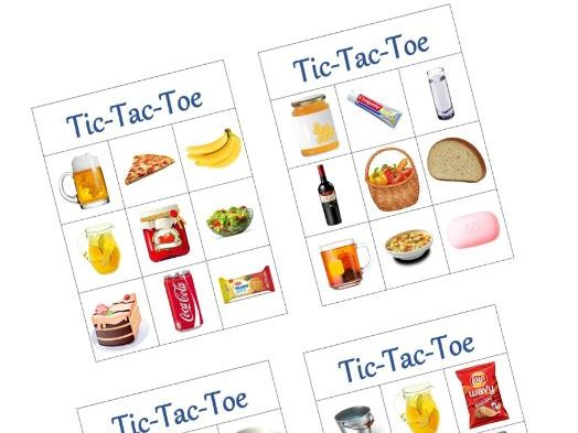 tic tac toe containers
