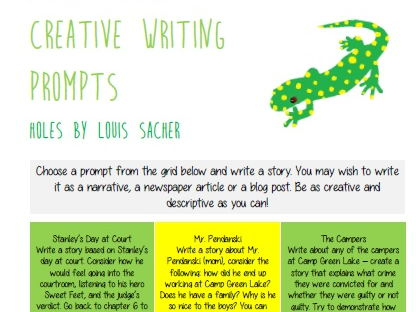 Holes - Creative Writing Prompts