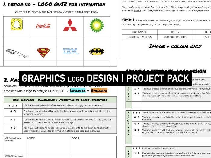 GRAPHIC DESIGN | Logo Design Booklet | KS3 DT