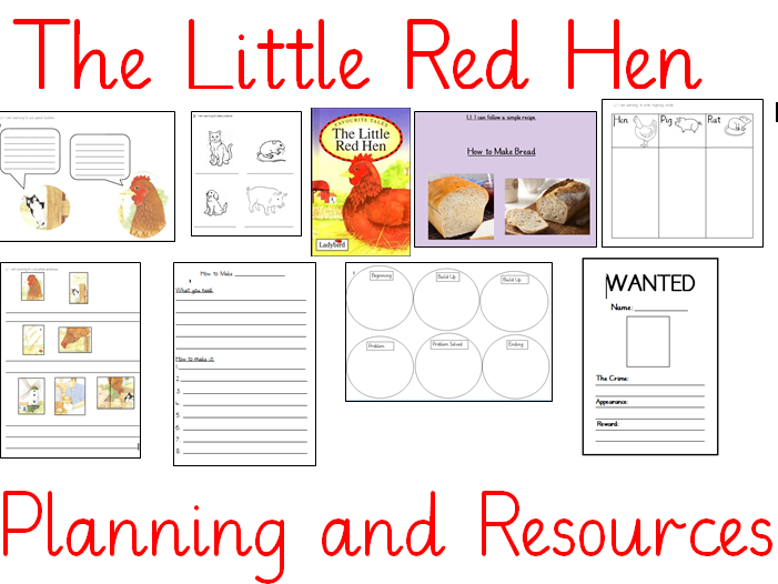 The Little Red Hen 2 Week Planning and Resources